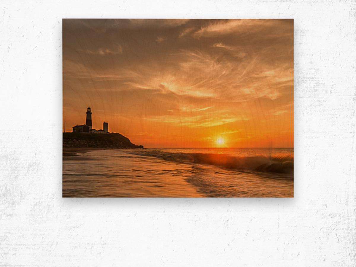 Montauk Beach Wood print