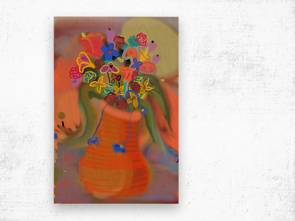 three vases (12) Wood print