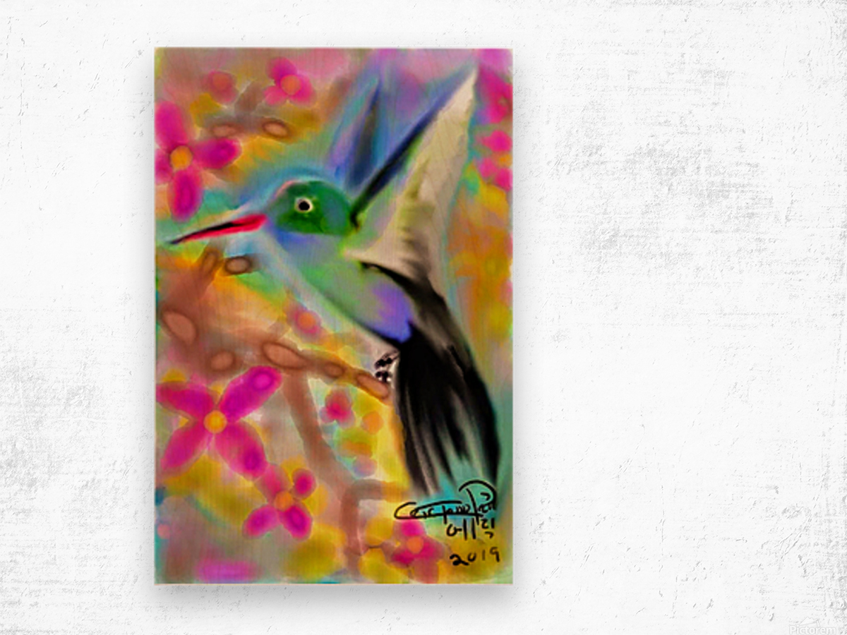 bird & tree.v2 Wood print