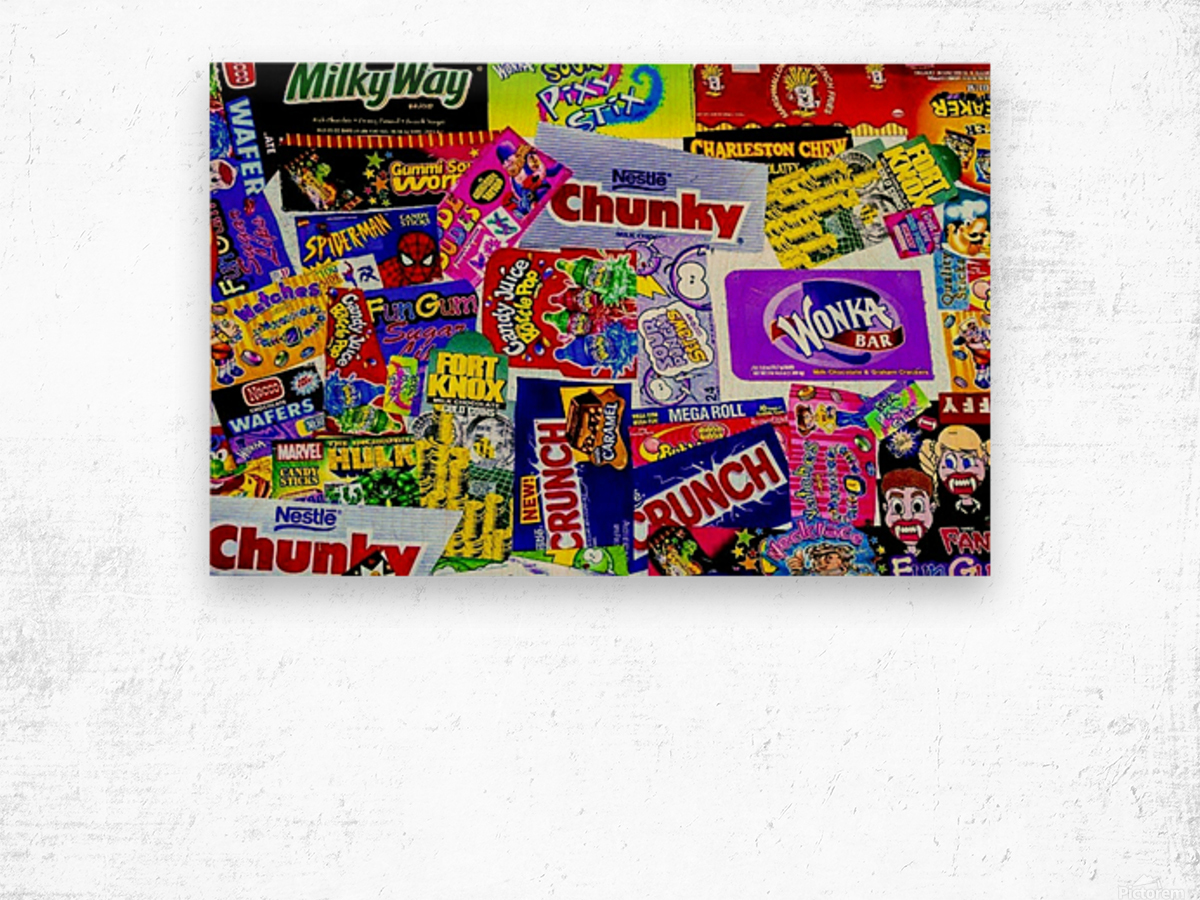 candy wrapper madness Wood print