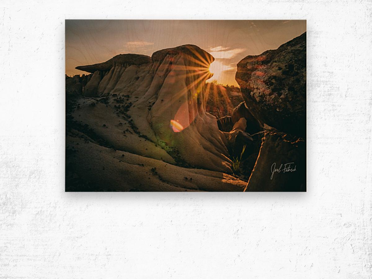 DPP Hoodoo Sunburst Wood print