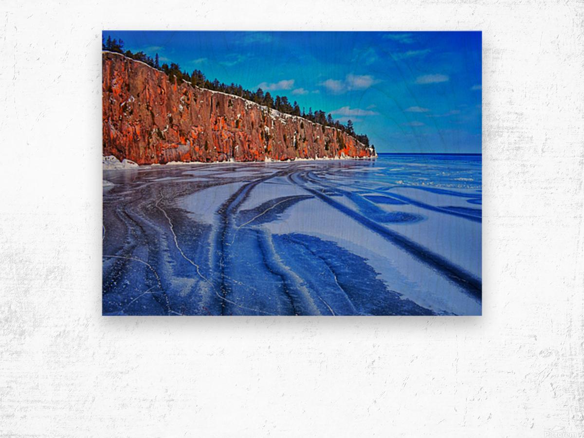 Frozen Shovel Point Wood print