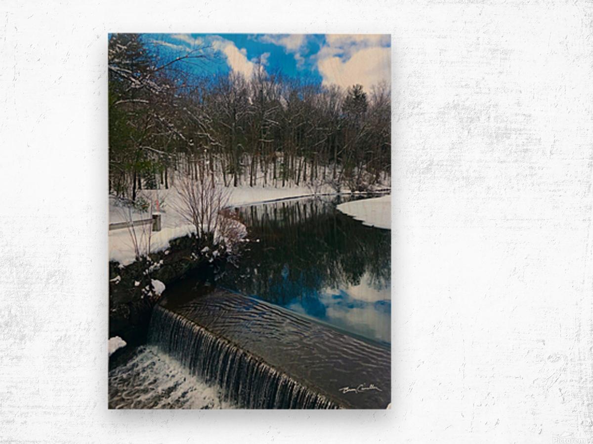 SimsburyFalls Wood print