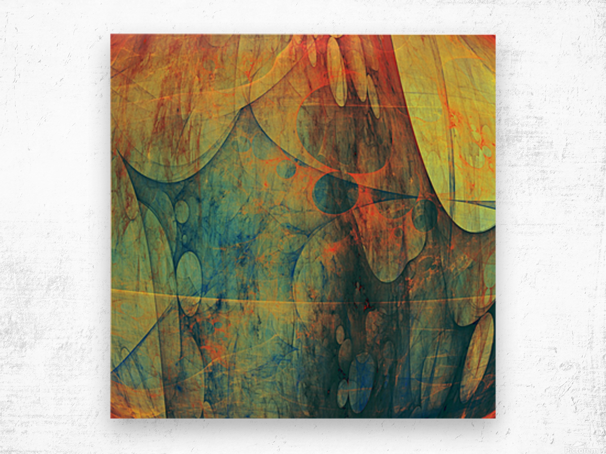 Abstract Composition 139 Wood print