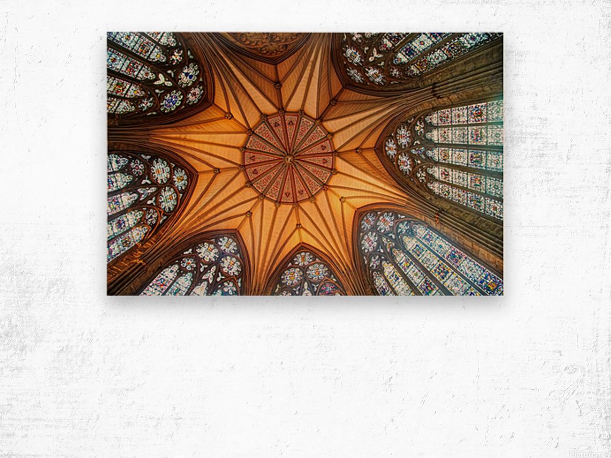 Religious Ceiling Wood print