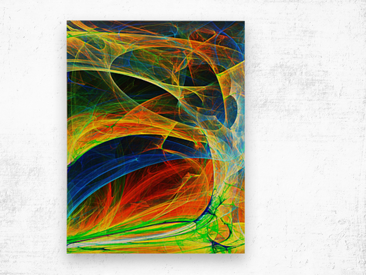 Abstract Composition 395 Wood print