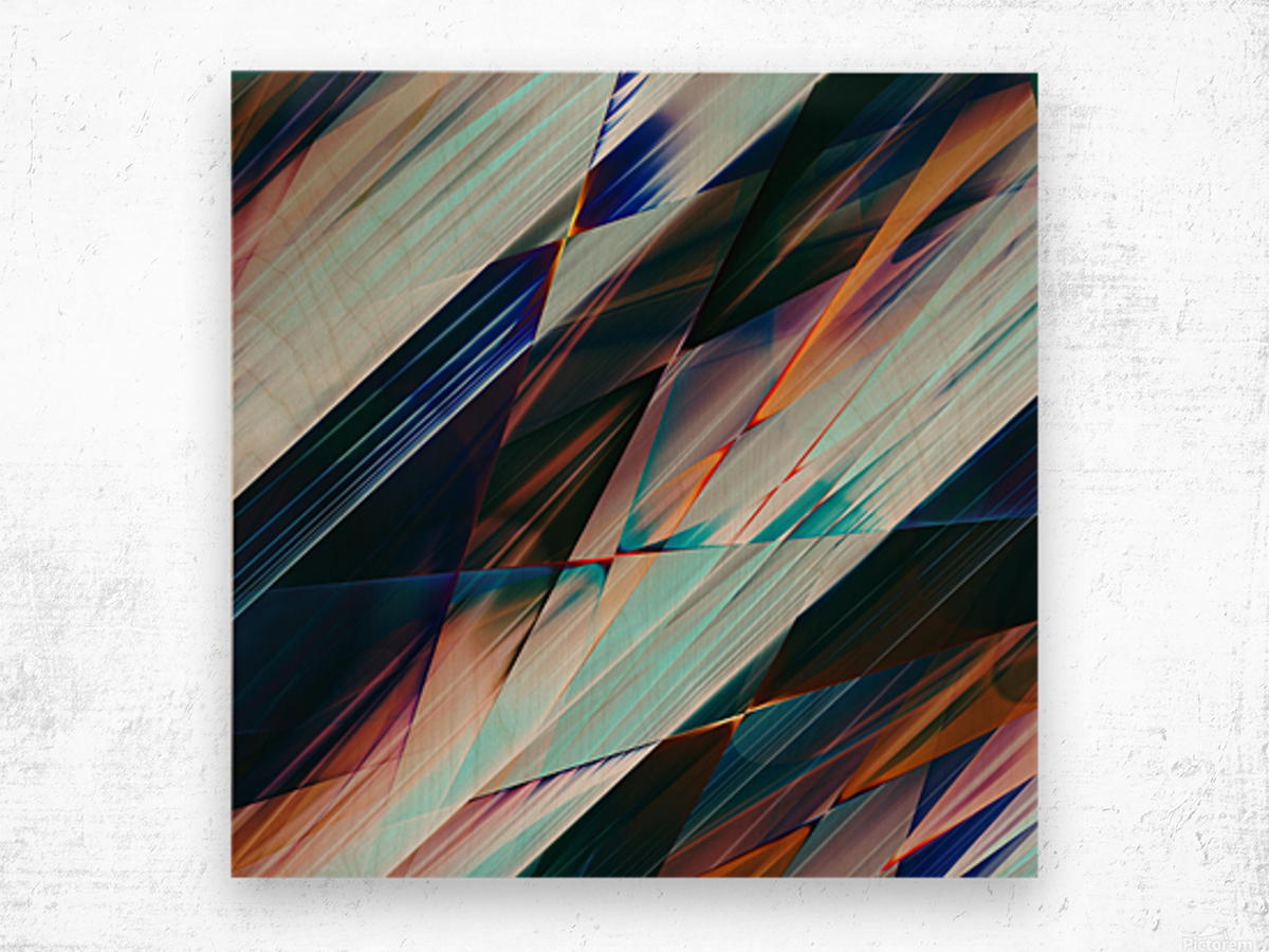 Abstract Composition 426 Wood print