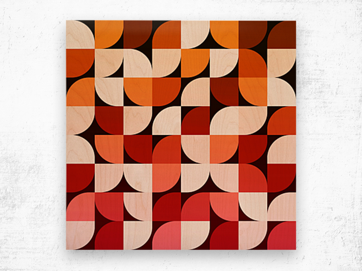 Abstract Composition 642 Wood print