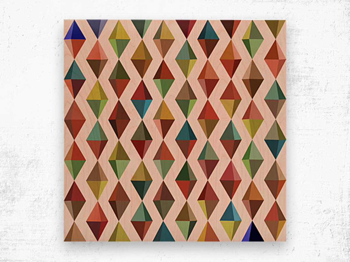 Abstract Composition 530 Wood print