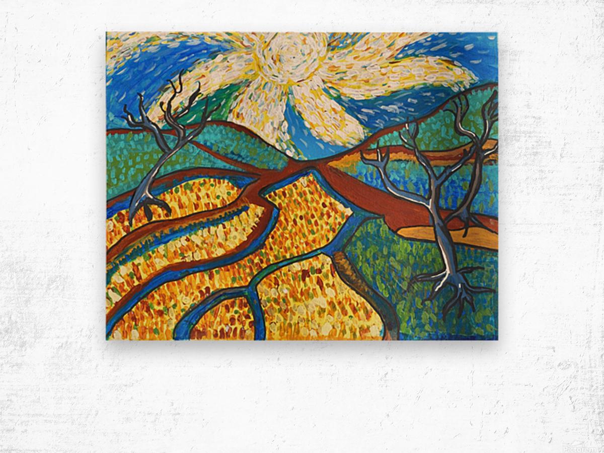 Jana A. Trees in the Sun Impression sur bois