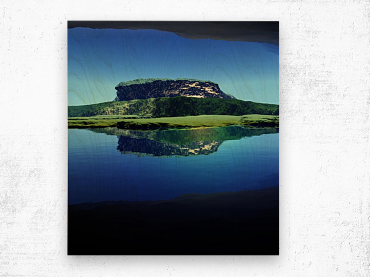 Distant Plateau Wood print