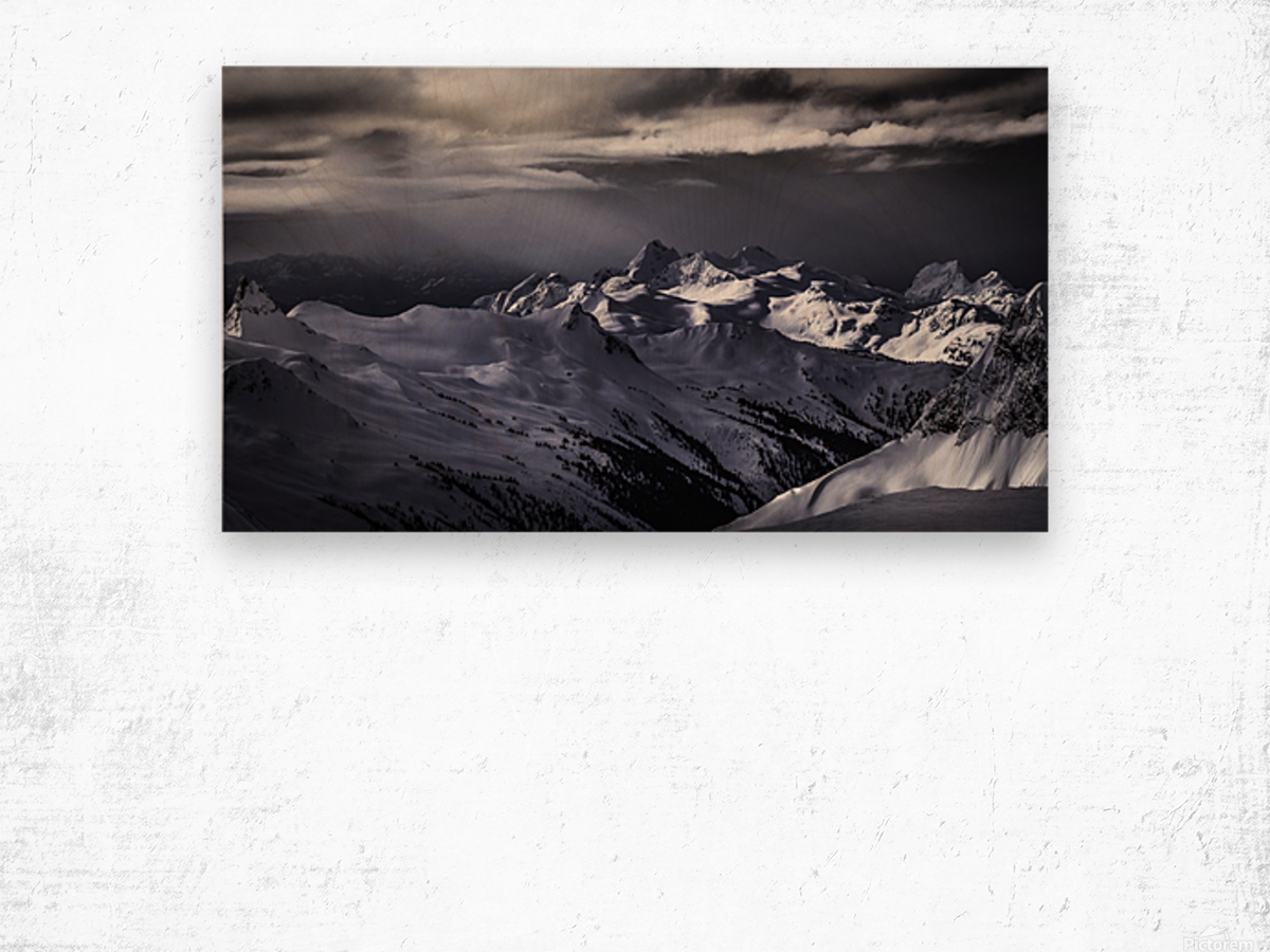 Mountain moods Whistler BC Back-country  Wood print