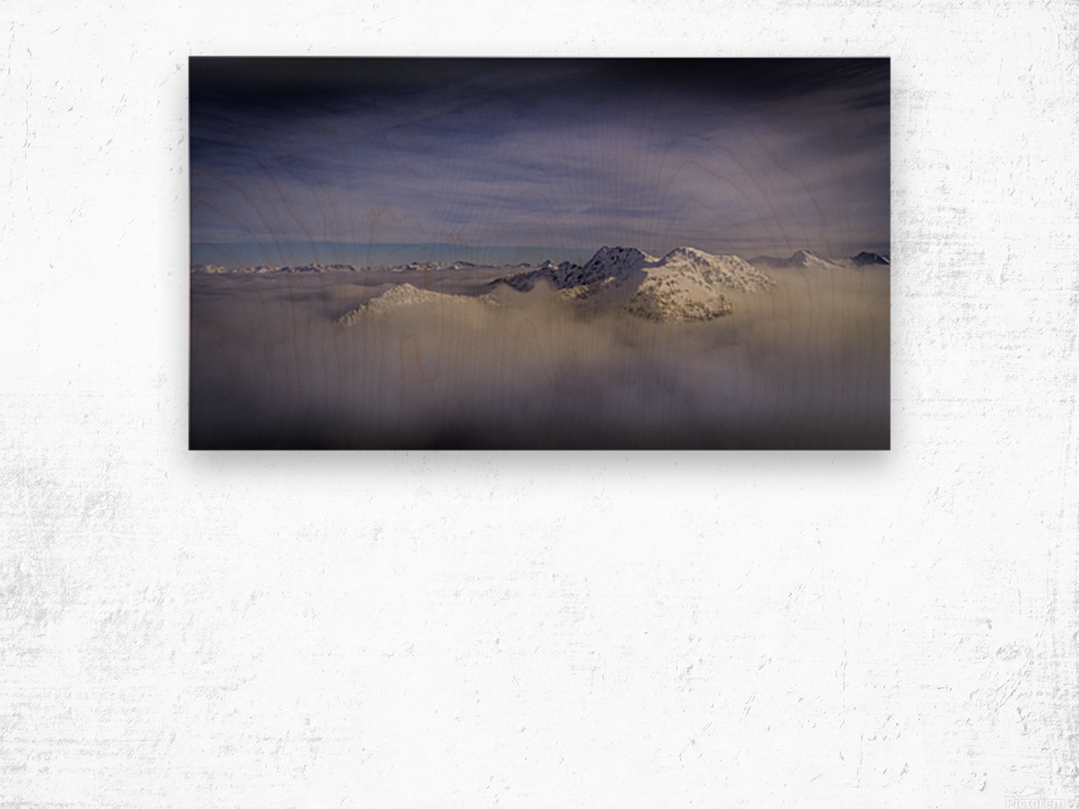 Alpine inversion Kootenay Back country  Wood print