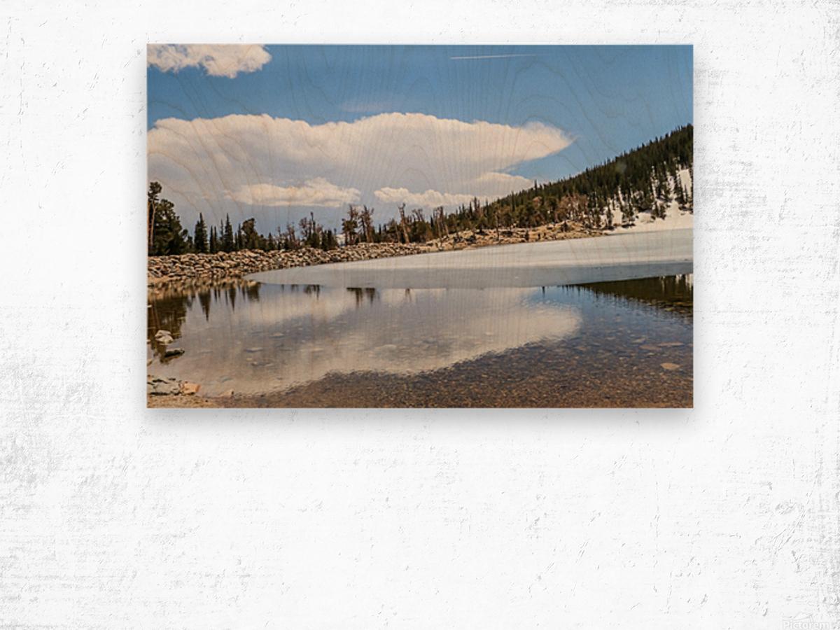 Colorado Glacier Wood print