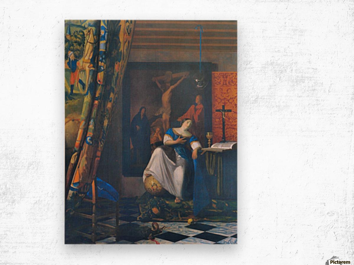 Allegory of Faith by Vermeer Wood print