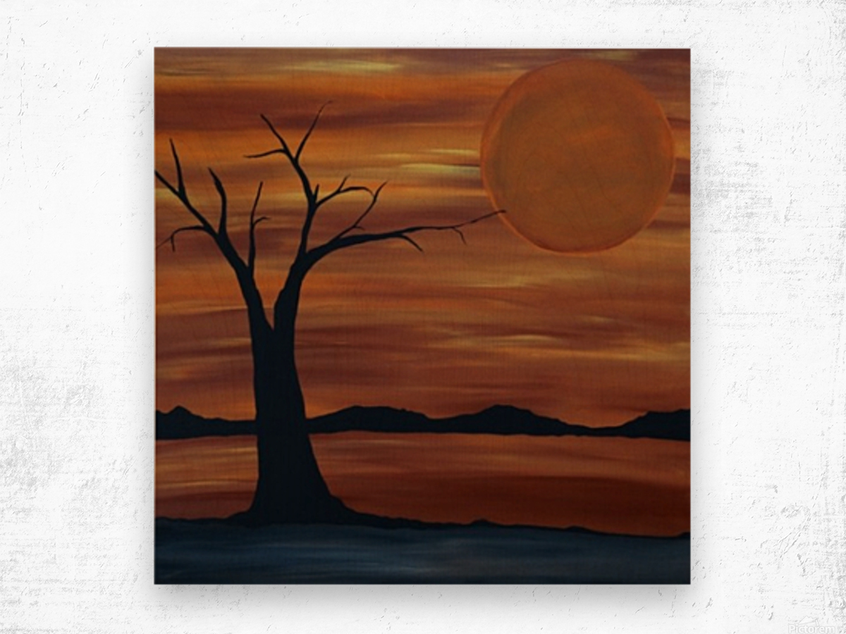 Ares tree acrylic painting Wood print