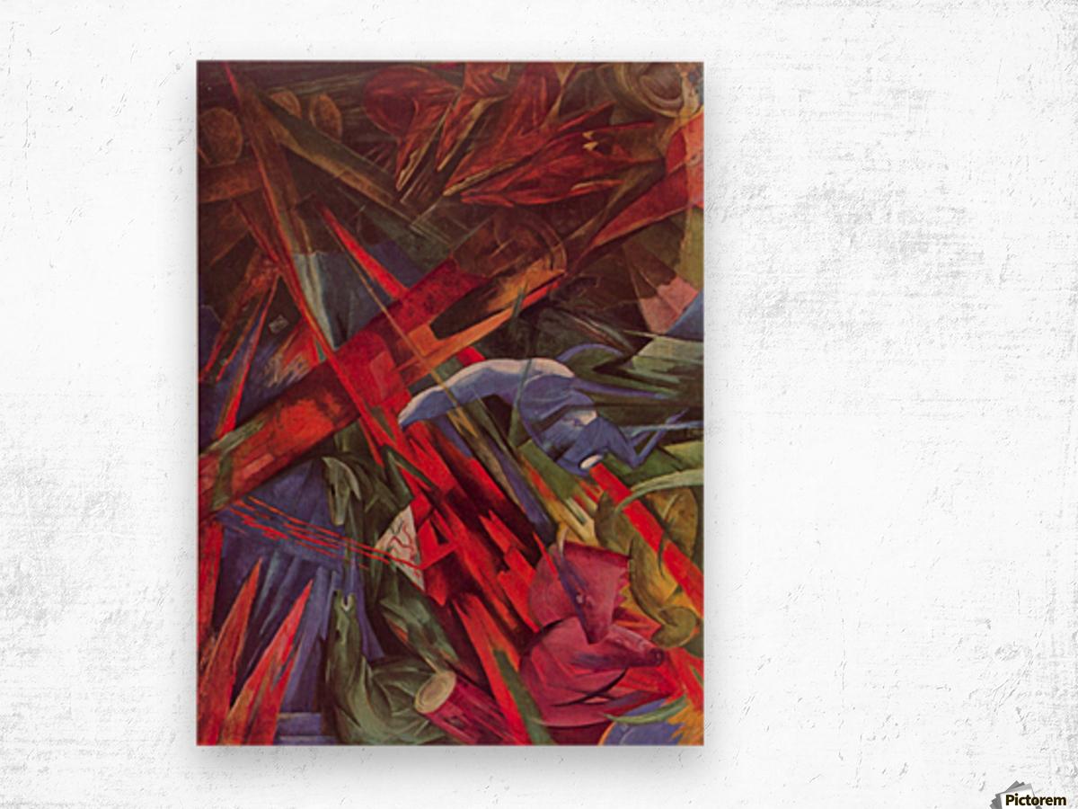 Animal Fates by Franz Marc Wood print
