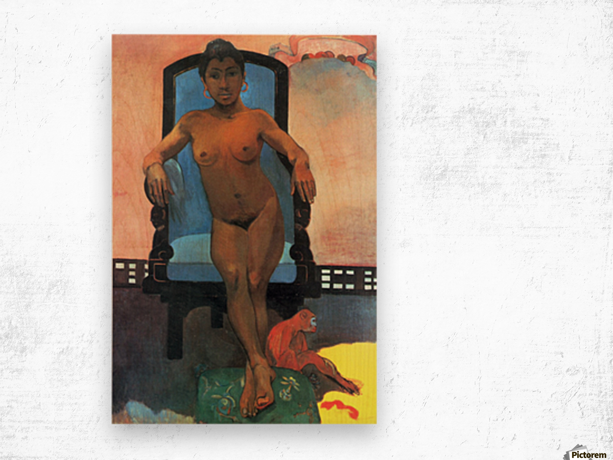 Anna the Java Woman by Gauguin Wood print