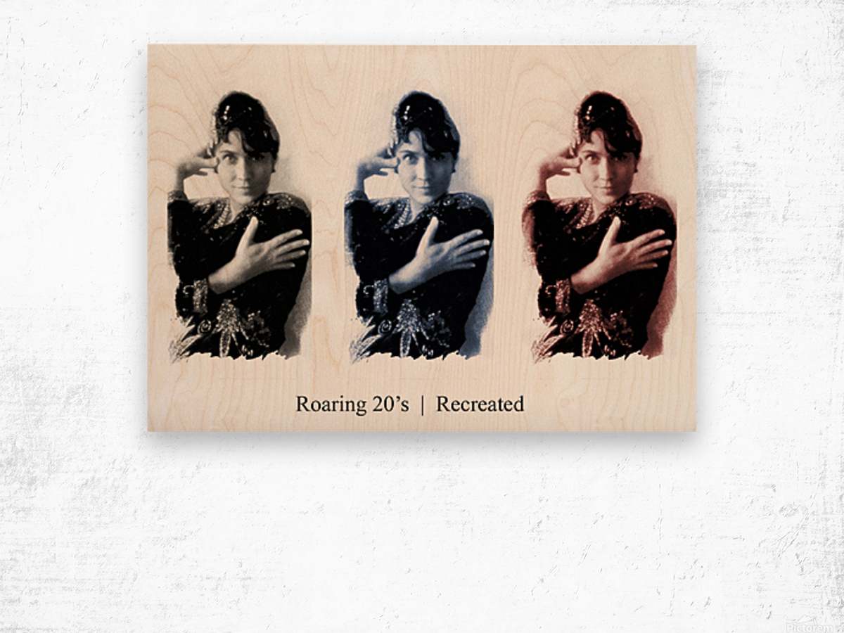 Roaring 20s Recreation Model released triptych of a 1920s flapper. Wood print