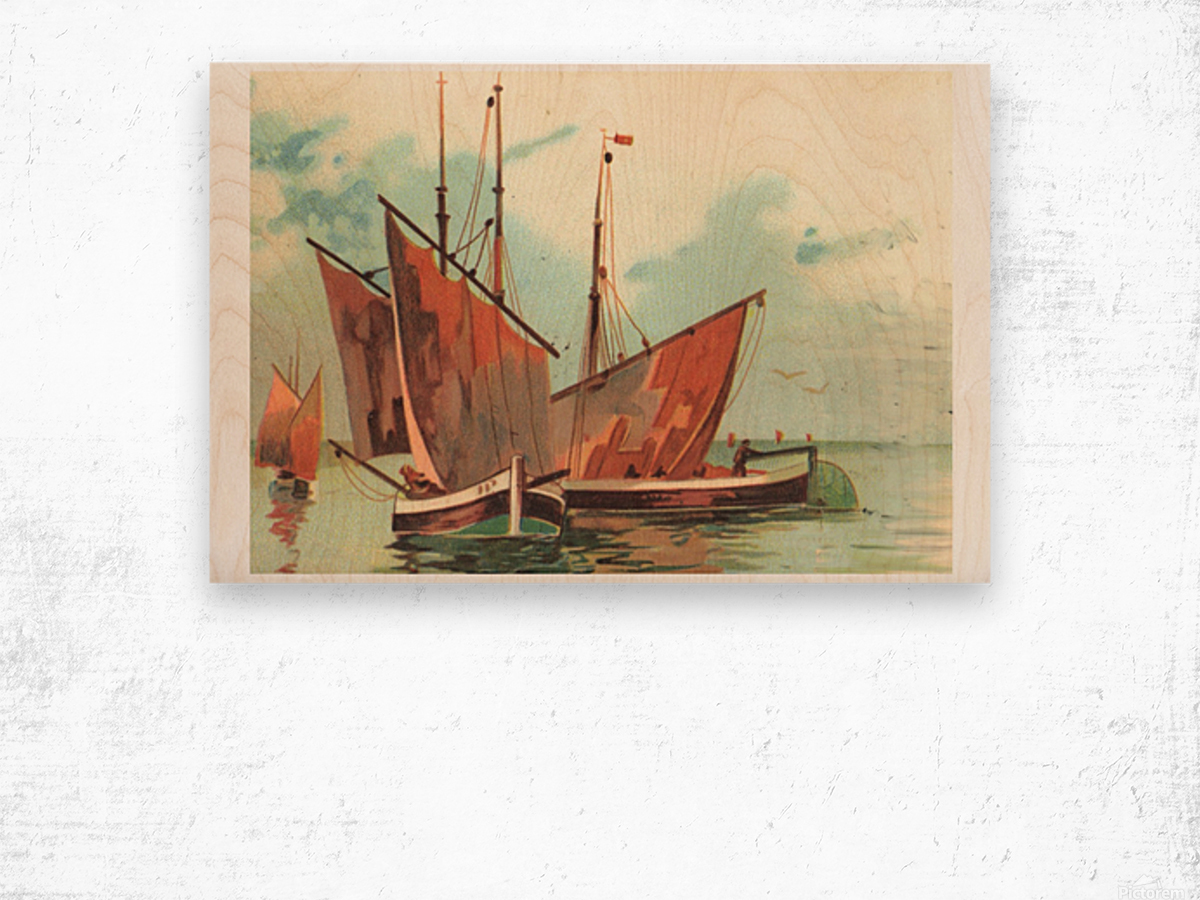 Greeting card Sailing boats Wood print
