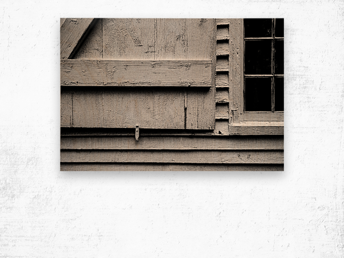 Shutter and Panes Wood print
