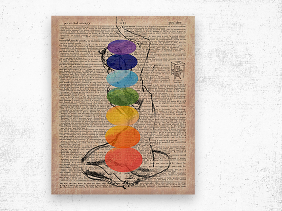 Potential Energy Chakras Colors Wood print
