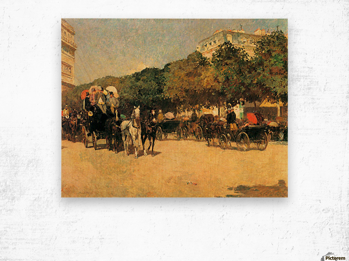 The day of the Grand Prize -2- by Hassam Wood print