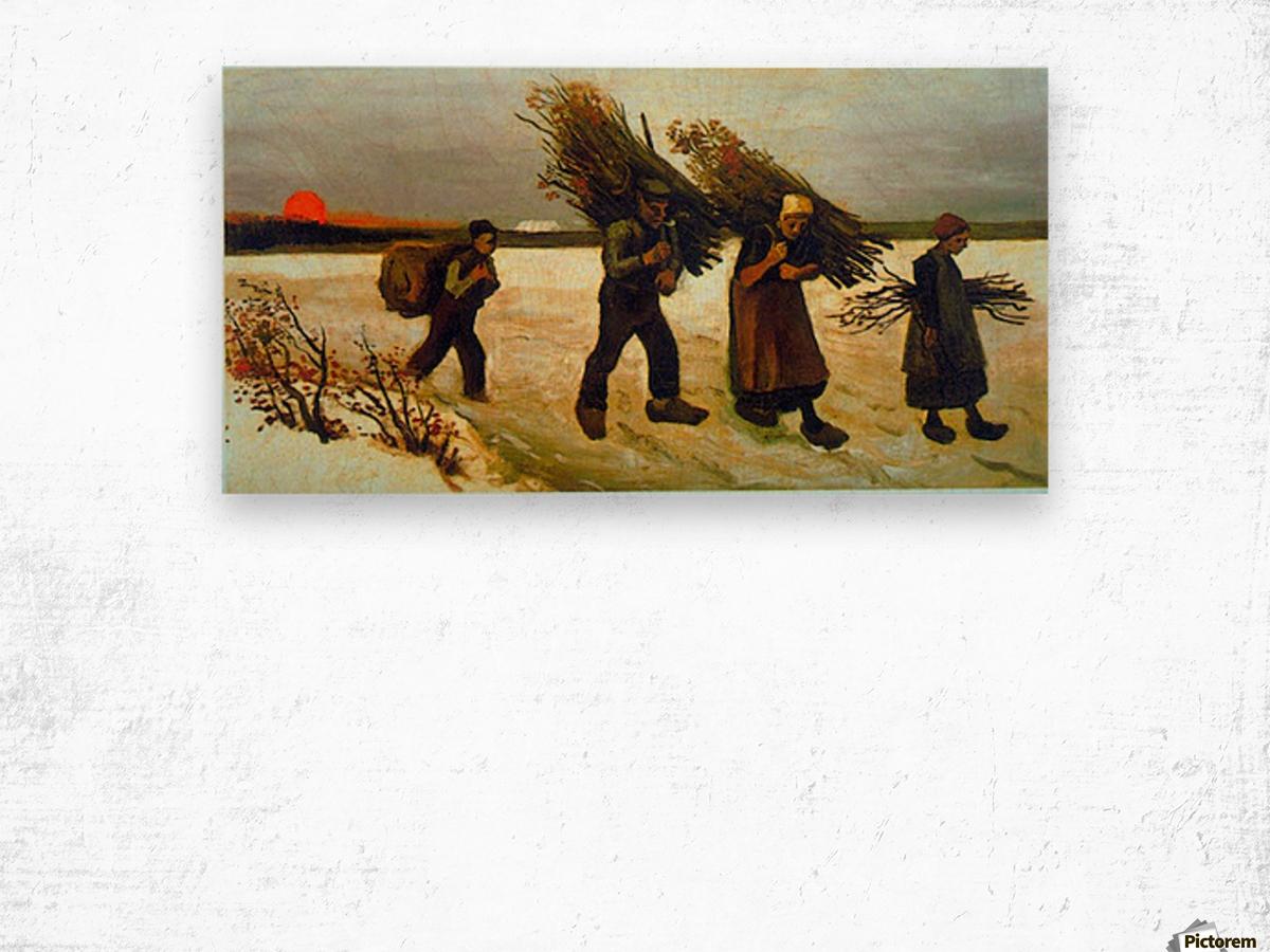 Apples by Van Gogh Wood print