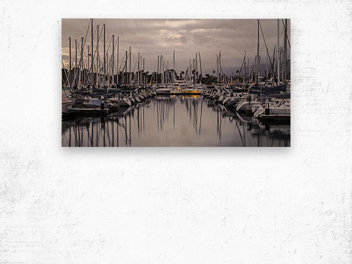 Boat Mess Wood print
