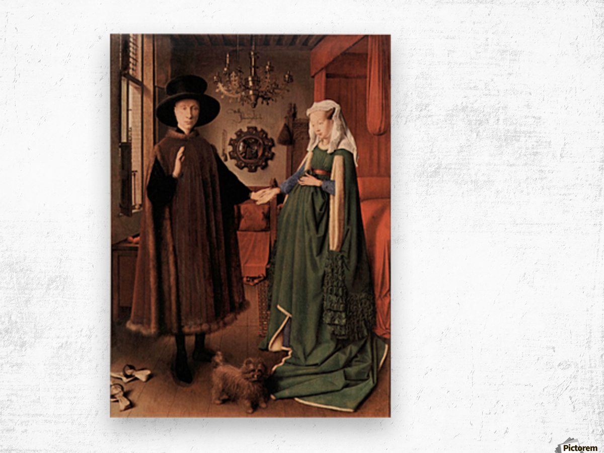 Arnolfini Wedding by Jan Van Eyck Wood print