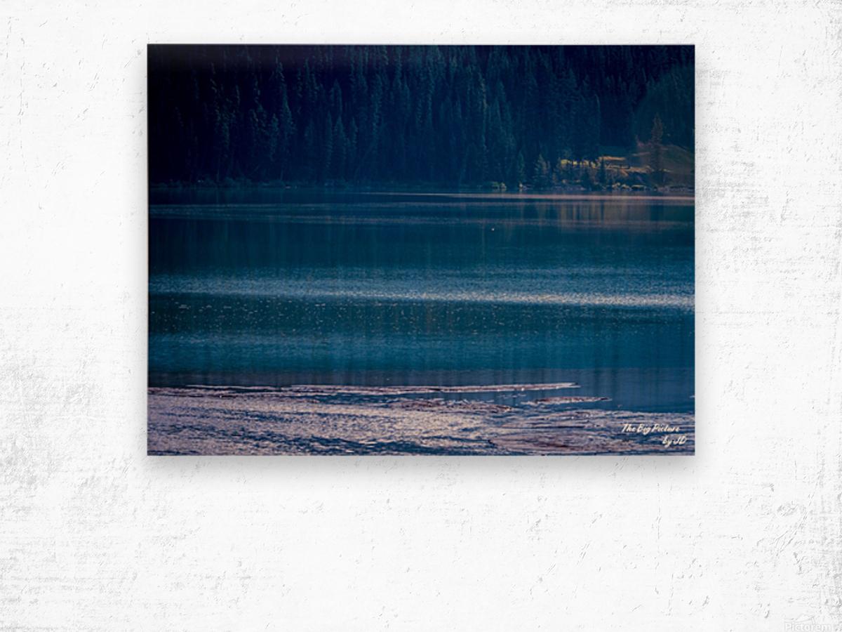 Rocky Mountains Deep Blue Wood print