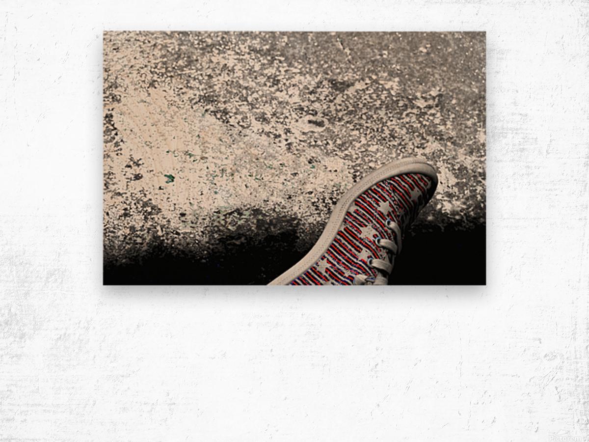 Shoes On Wood print