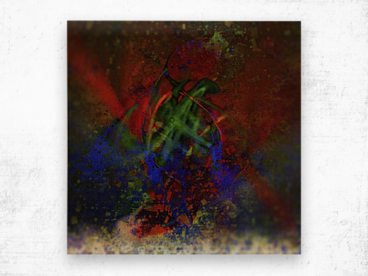 Pollock Wood print