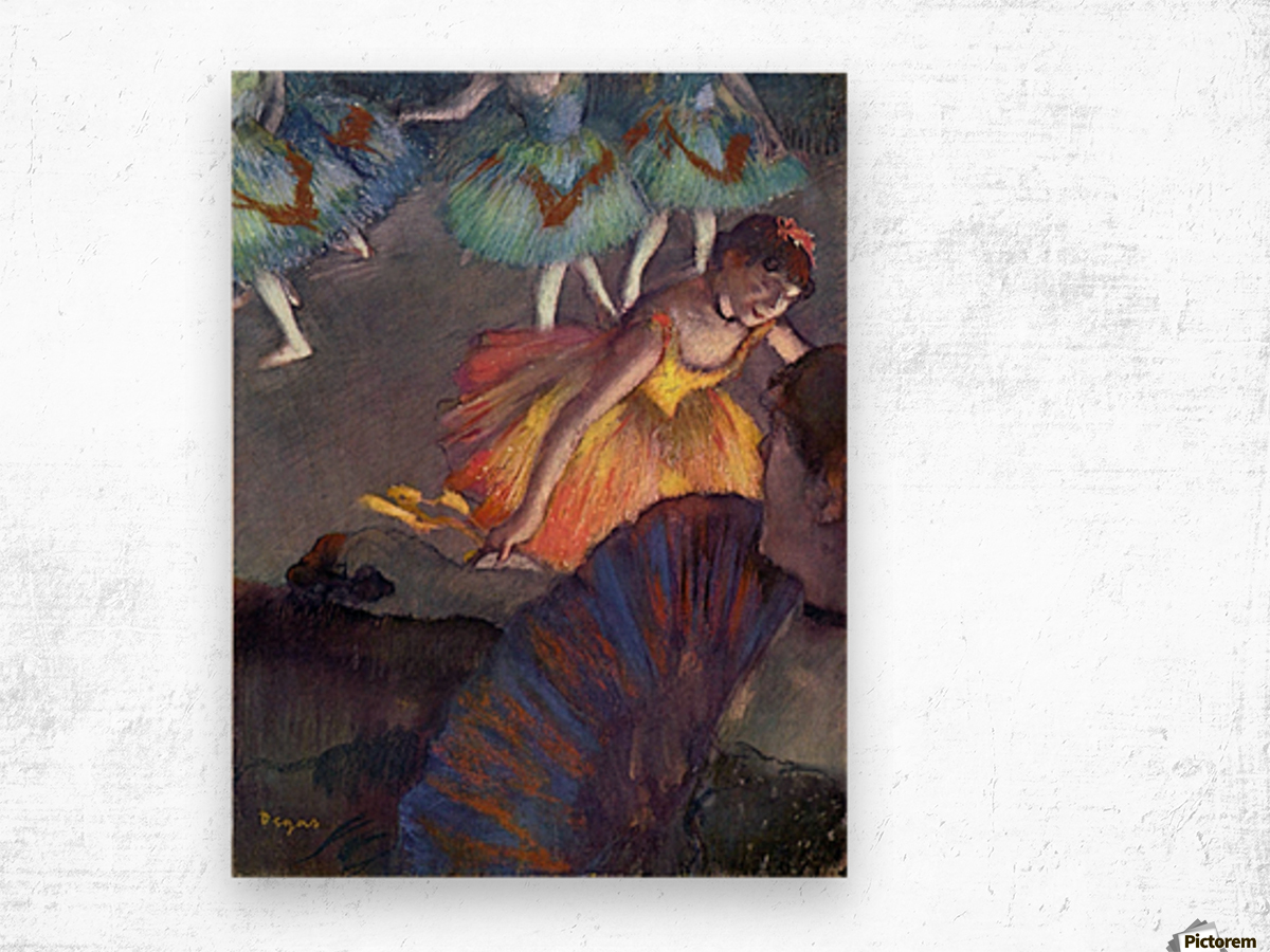 Ballet, from a box view by Degas Wood print
