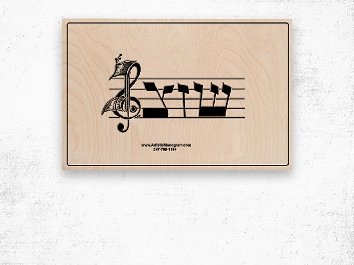 monogram  musical  vctrzd BBB Wood print