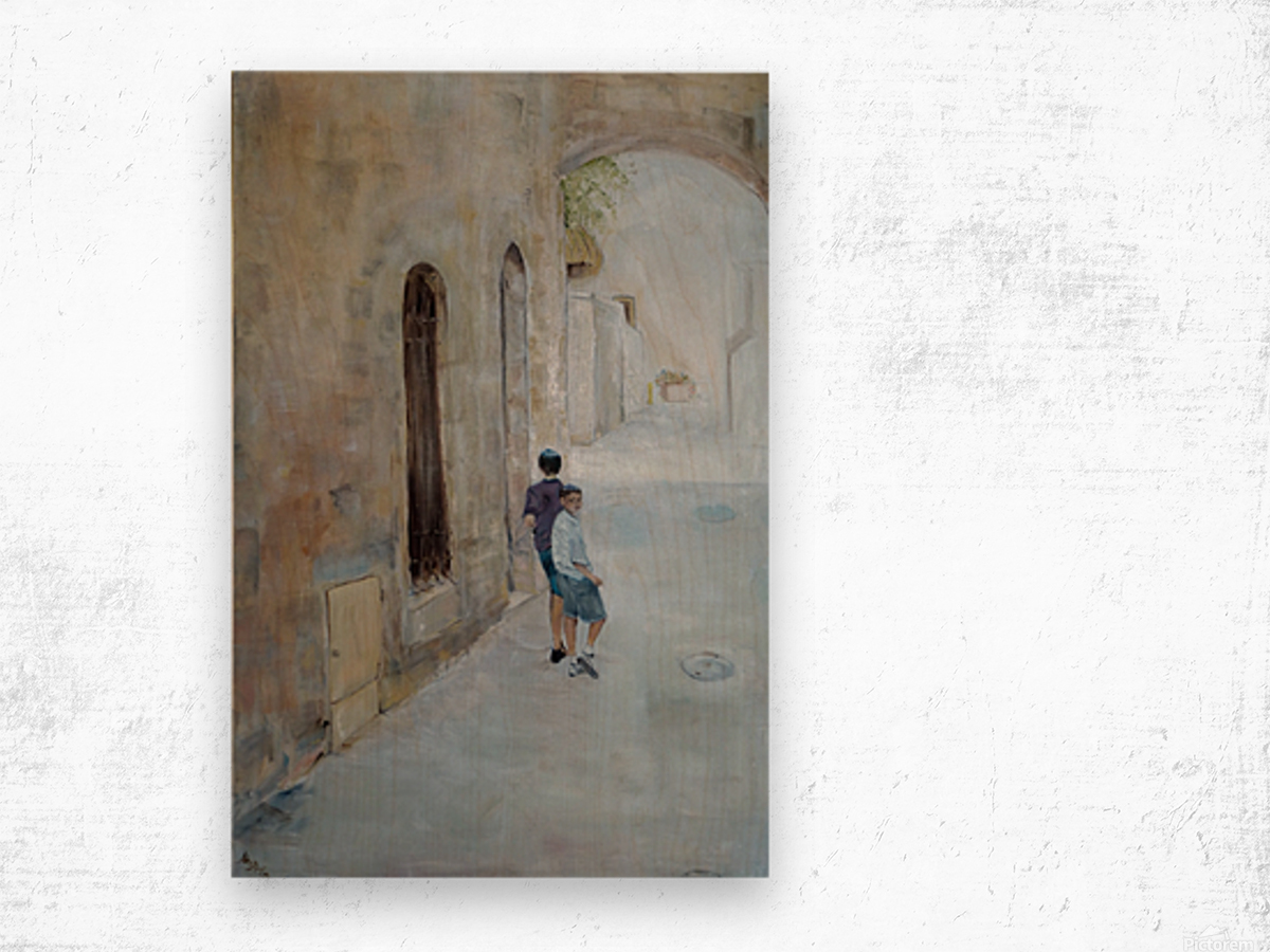 Two_Boys_High_Res Wood print