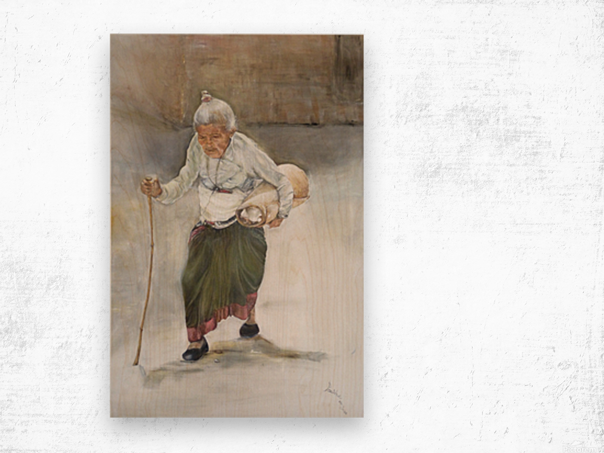 Old_Woman_High_Res Wood print