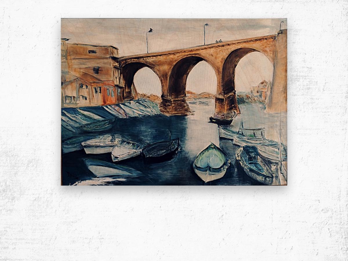Marseille Wood print