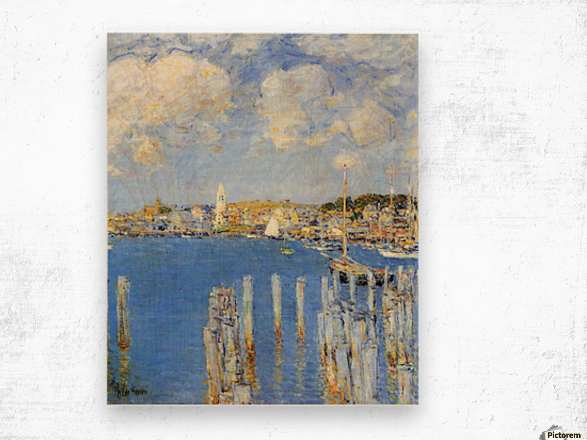 The inland port of Gloucester by Hassam Wood print