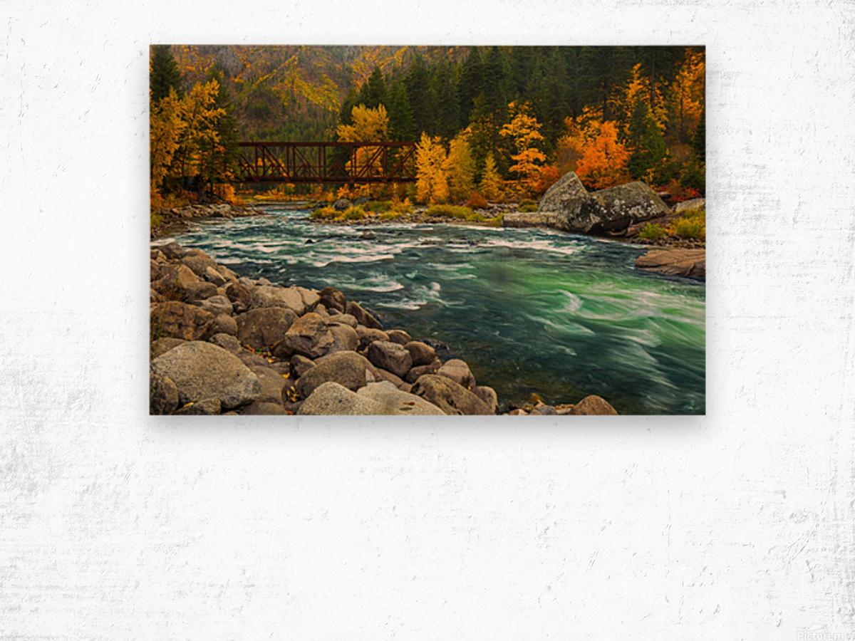 Emerald Flow Wood print