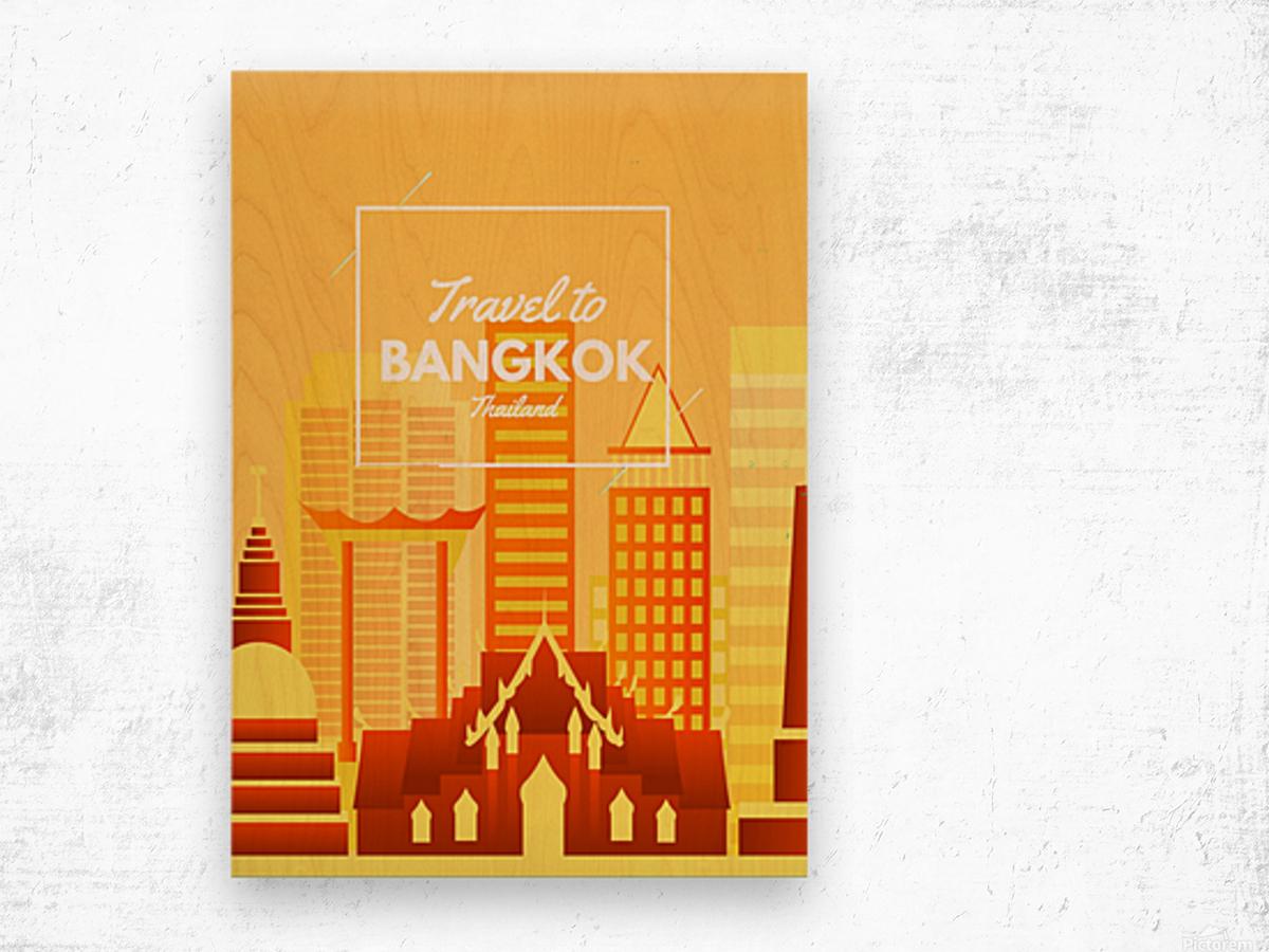 Travel To Bangkok   Thailand Wood print