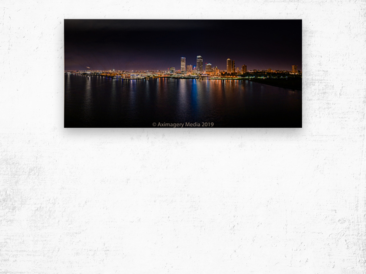 Milwaukee Skyline of Color Impression sur bois