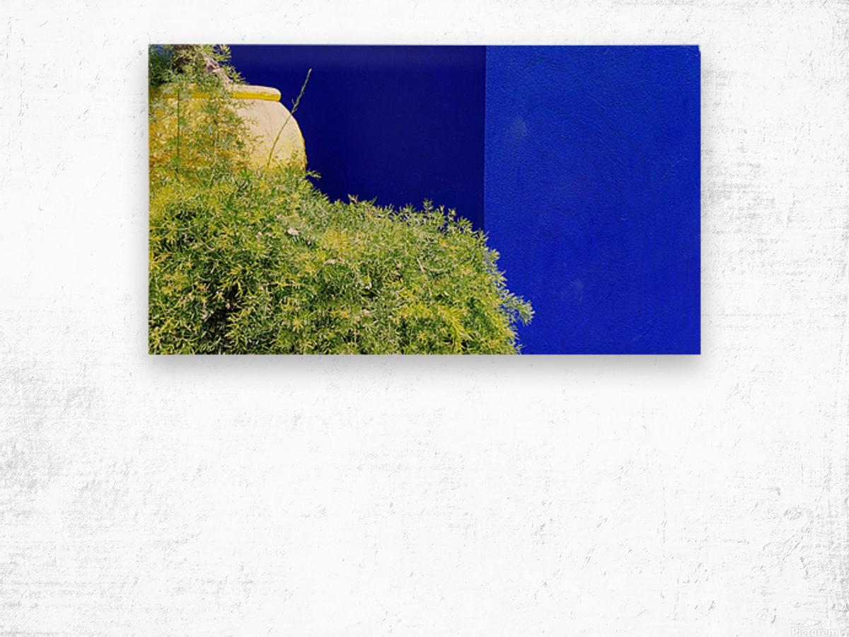 Marrakech on Blue Majorelle Wood print