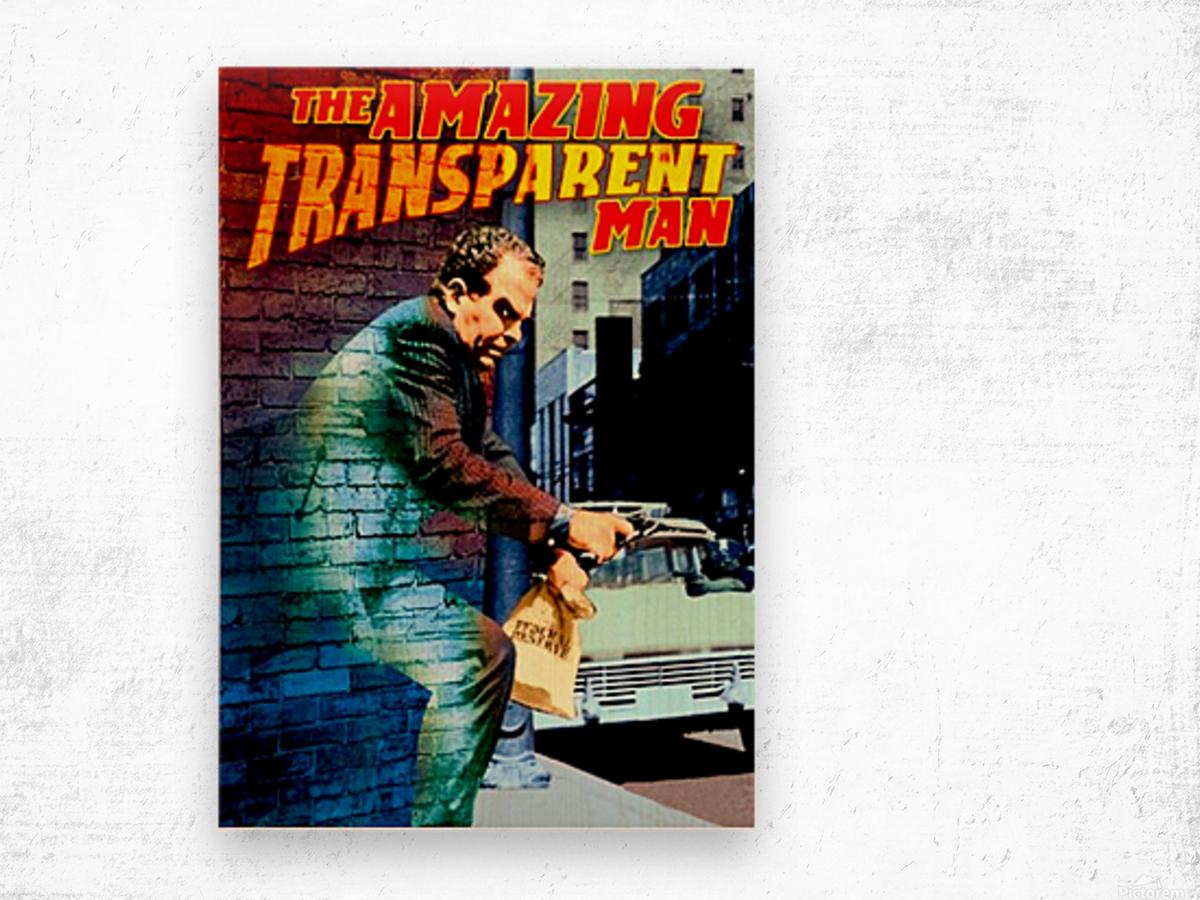 The Amazing Transparent Man 1960 Poster 1 Wood print