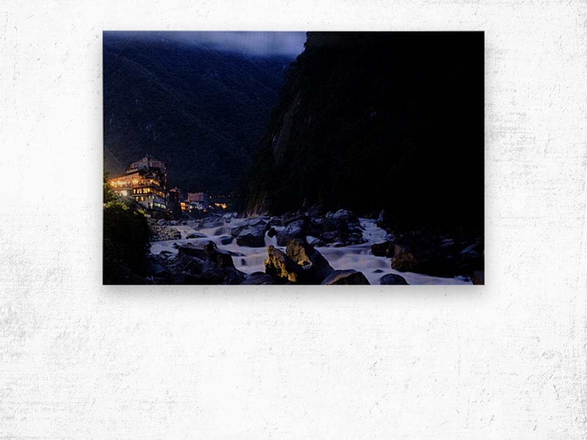 Machu Picchu Pueblo Impression sur bois