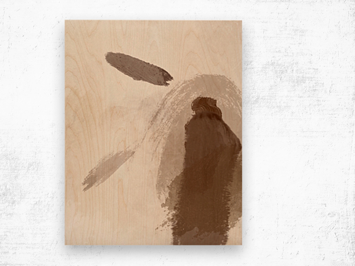 Man with Two Feathers Wood print