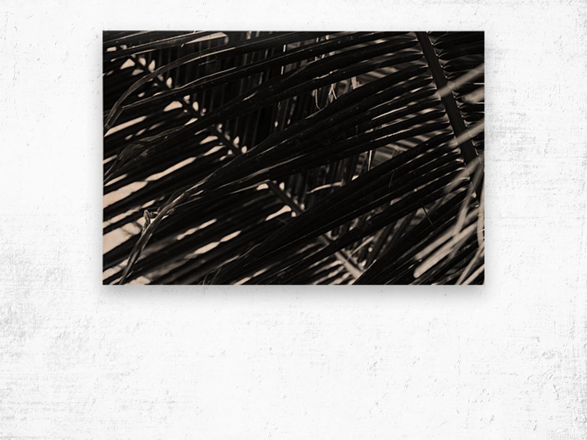 Dark Lines Wood print