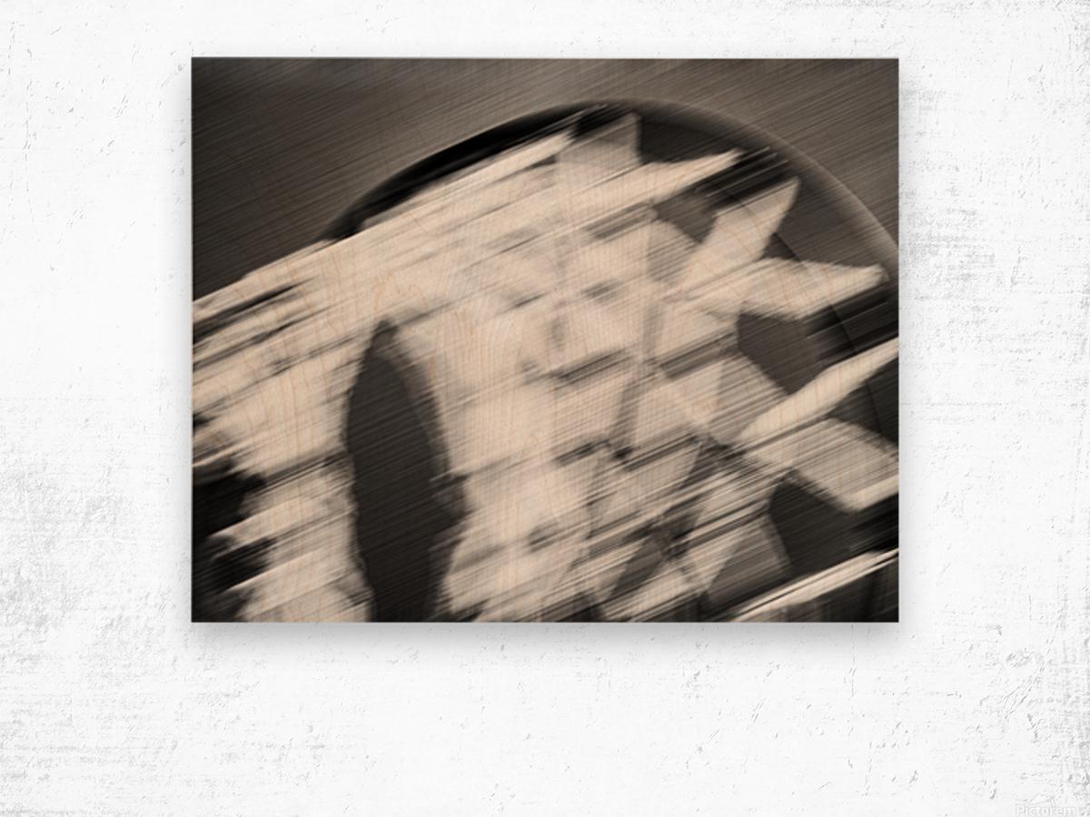 Hoop to the Sky Wood print