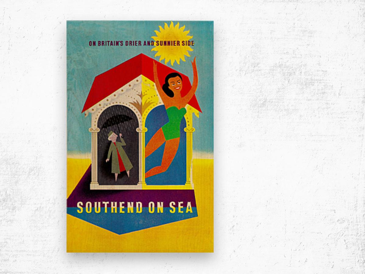 Vintage Travel - Southend on Sea Wood print