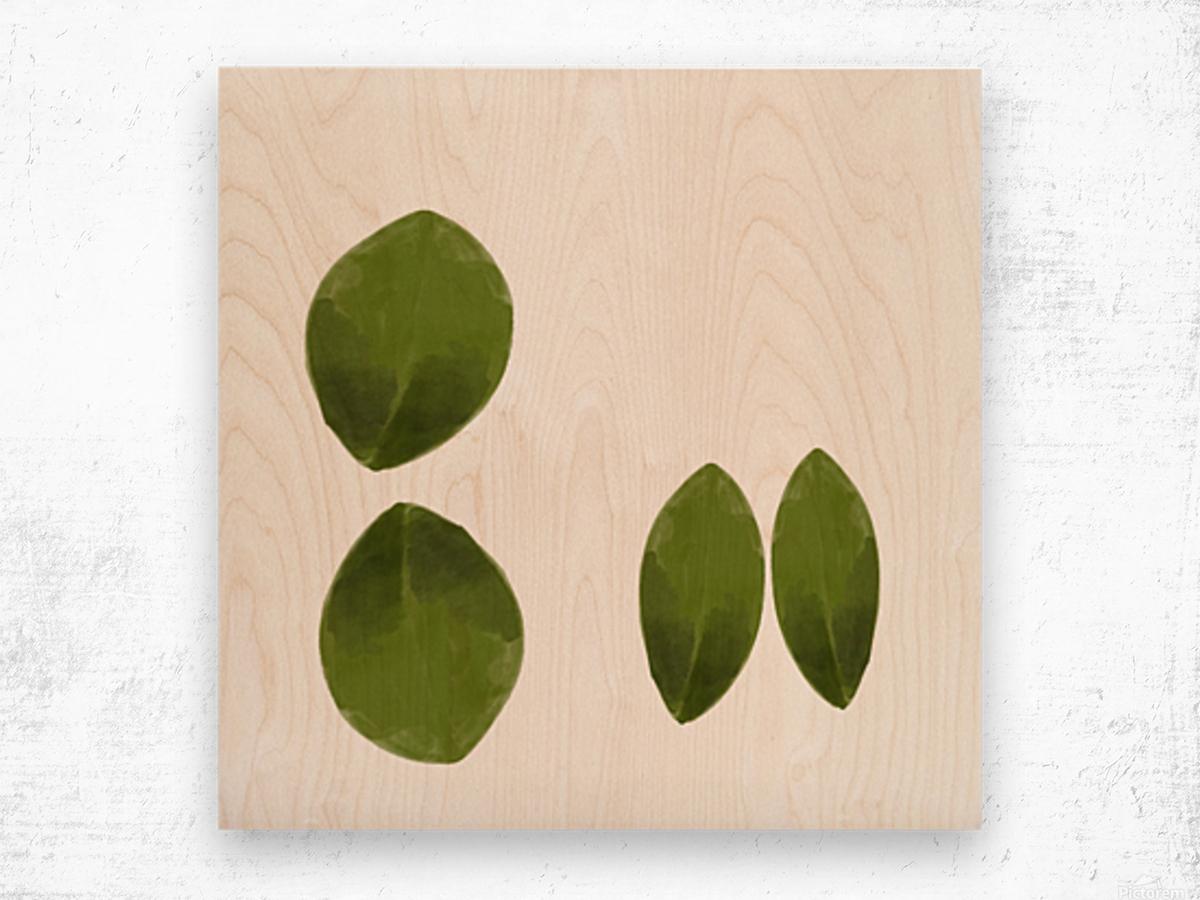 4 Leaves Wood print